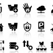 Stock Vector: Ftp host icons