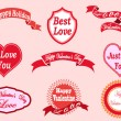 Valentine's day labels — Stock Vector #40654593