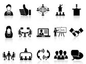 Business meeting icons set — Stock Vector
