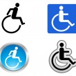 Stock Vector: Disability symbol