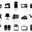 Home appliances icon set — Stock Vector #41781409