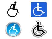 Disability symbol — Stock Vector