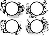круг цветочная структура — Cтоковый вектор