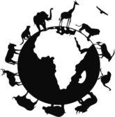Africa animal — Stock Vector