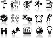 Planning icons set — Stock Vector
