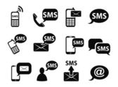 Sms icons set — Stock Vector