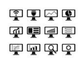 Screen design icon — Stock Vector