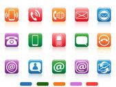 Set di icone di rete — Vettoriale Stock