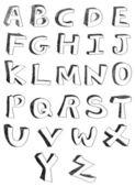 Hand written alphabets — Stock Vector