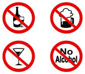 No Alcohol sign icon — Stock Vector