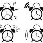Black alarm clock — Stock Vector #50786825