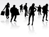 People silhouettes — Stock Vector