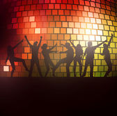 Dancing people silhouettes — Stock Vector