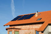 Solar collector on roof — Stock Photo