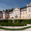 Rococo castle with park — Stock Photo