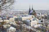 Wintry historic center of Brno — Stock Photo