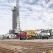 Stock Photo: Oil drilling rig