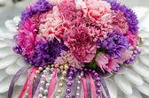 Christmas floral arrangement — Stock Photo
