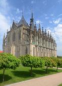 Catedral de st. barbora en kutná hora, república checa — Foto de Stock