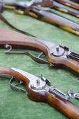 Detail of vintage military rifles — Zdjęcie stockowe