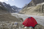 Camping in the french Alps — Stock Photo