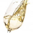 Stock Photo: White wine splash