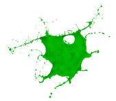 Green paint splash — Stock Photo