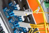 Servidor de red de fibra — Foto de Stock