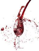 Verter el vino tinto — Foto de Stock