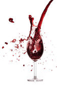 Pouring red wine — Stock Photo