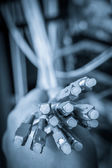 Optic fiber cables — Stock Photo