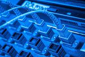 Server di rete fibra — Foto Stock