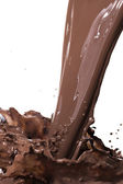 Hot chocolate splash — Stock Photo