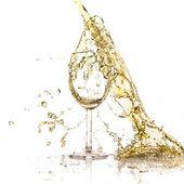 White wine splash — Stock Photo