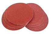 Disk of brown sandpaper — Stock Photo