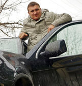 Man and car — Stock Photo
