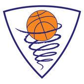 Название: Basketball tornado on white background — Stock Vector