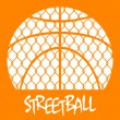 Stock Vector: Streetball grid