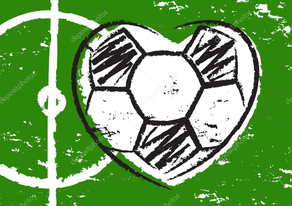 Football heart vector