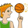 Basketball player — Stock Vector #32077873