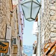 Lantern in Budva — Stock Photo
