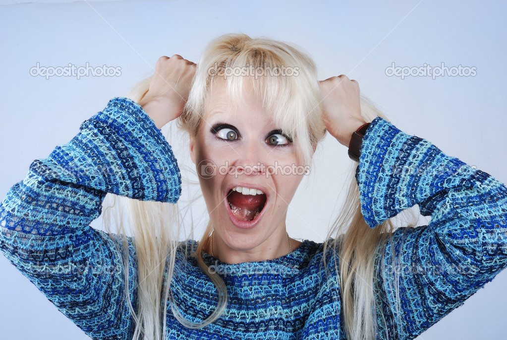 Beautiful surprised woman  — Stock Photo #12743587