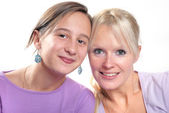 Complicity between mother and daughter — Stock Photo
