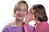 Complicity between sisters — Stock Photo