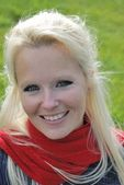 Portrait of blond woman — Stock Photo