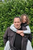 Complicity between father and daughter — Stock Photo