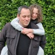 Stock Photo: Complicity between father and daughter