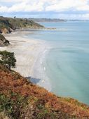 Beach seen from the cliff — Stock Photo