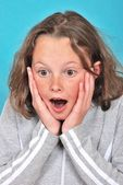 Surprised girl — Zdjęcie stockowe