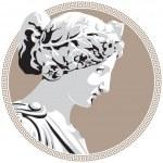 Ancient goddess — Stock Vector #5387118